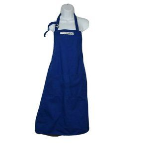 WILLIAMS SONOMA Blue Kitchen Apron  100% Cotton
